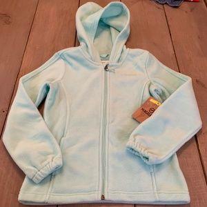 Magellan Mint Green Fleece Girls Hoodie Jacket